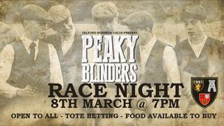 Peaky Blinder themed Race Night  8th March 7pm