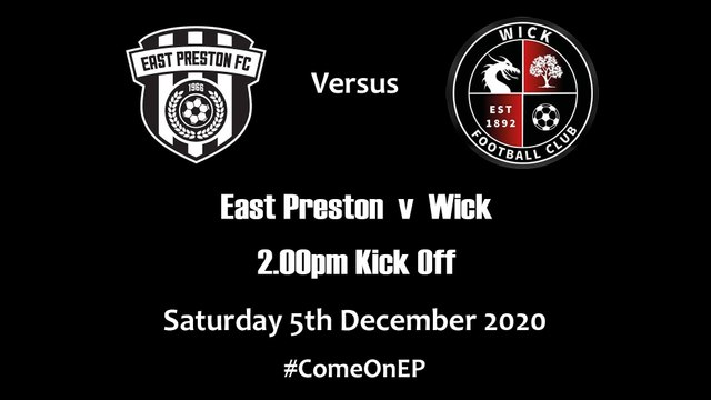 EP v Wick this coming Saturday