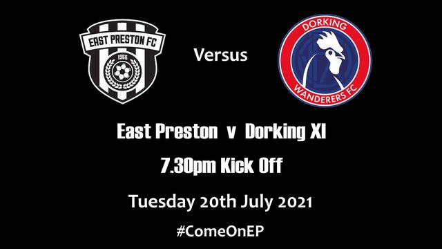 EP play a Dorking Wanderers XI this Tuesday