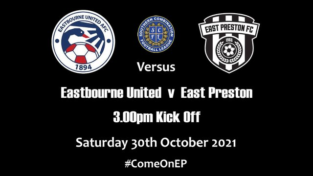Away to Eastbourne United this Saturday