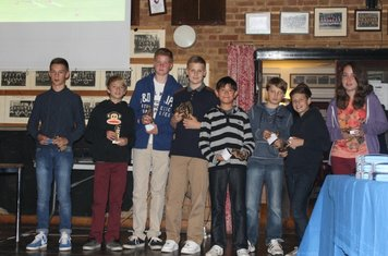 Some of our Under 13 B's who were runners up in Div 4 2012
