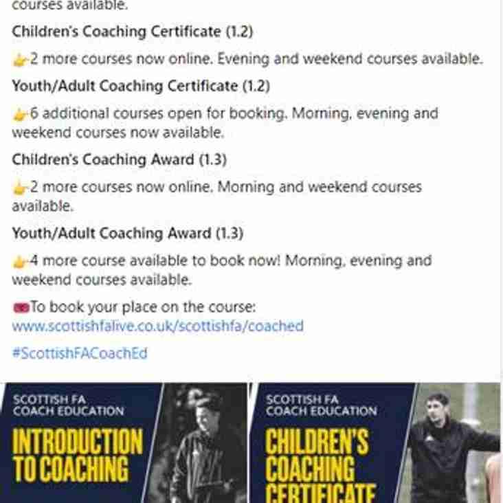 SFA Coach Education Courses