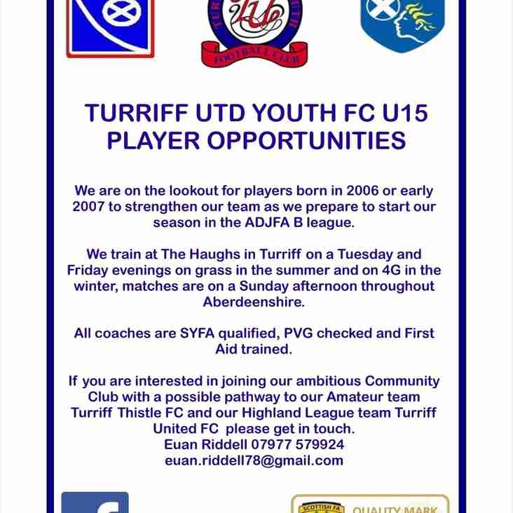 Turriff United 2006s 15s