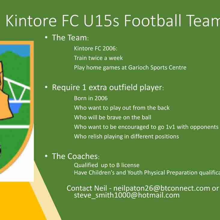 Kintore United 15s