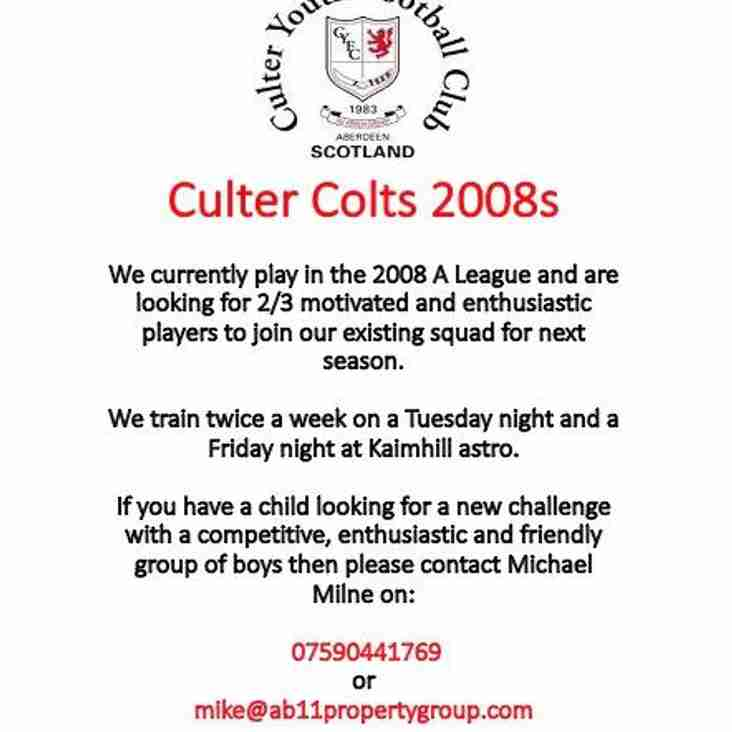 Culter Colts 2008s