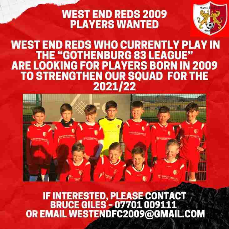 West End Reds 2009s