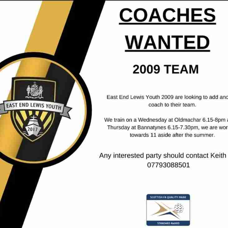 East End Lewis Youth 2009s Coaches wanted