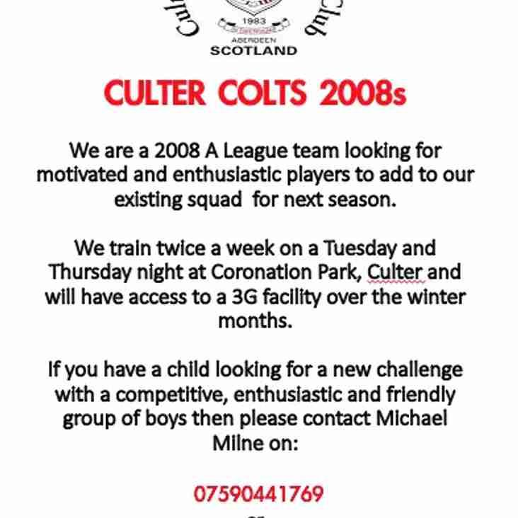 Cuter Colts 2008s