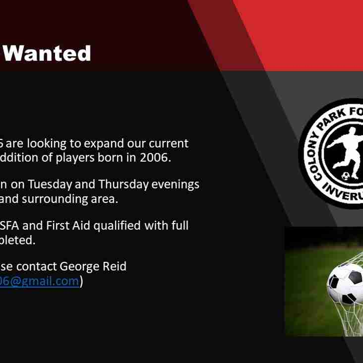 Colony Park 2006s Players Wanted