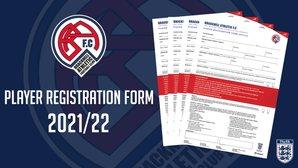 Player Registration Form 2021/22