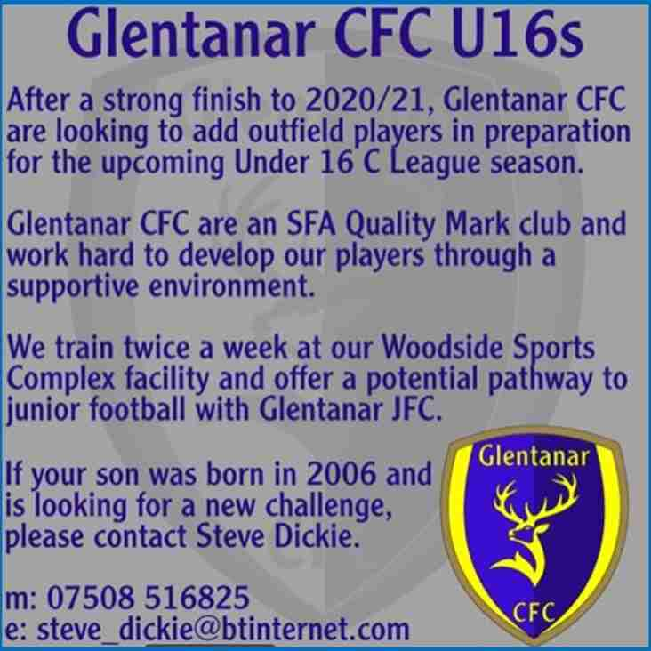 Glentanar CFC 2006s - Seek Outfield Players