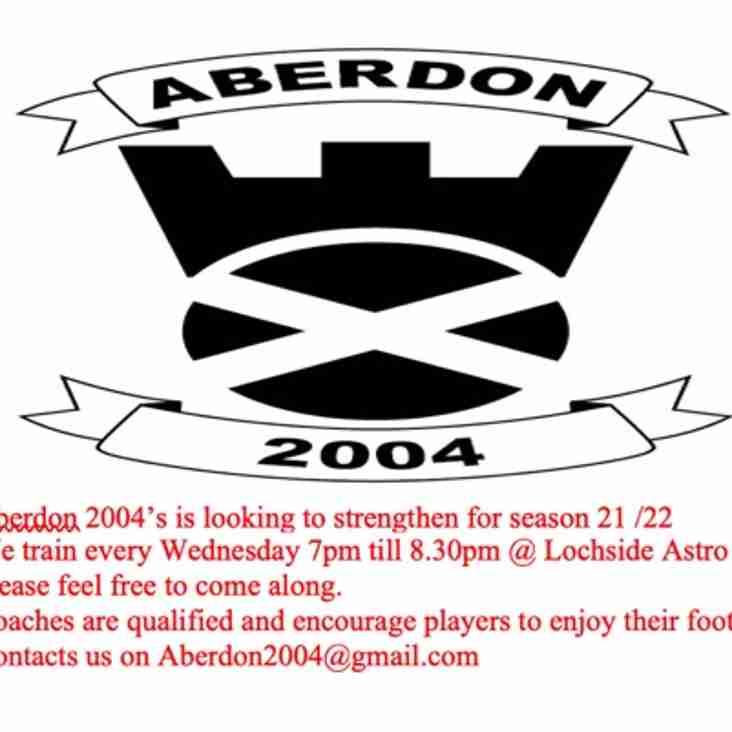 Aberdon 2004s Seek Players