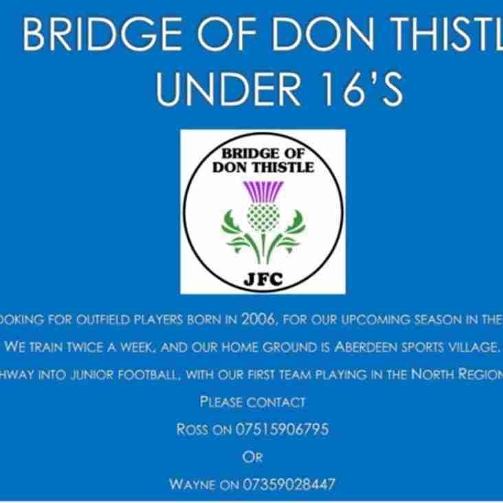 Bridge of Don Thistle 16s Seek Players