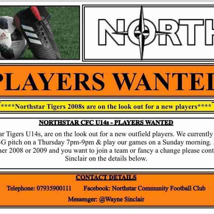 Northstar Tigers 14s - DoB 2008 - Seek Players