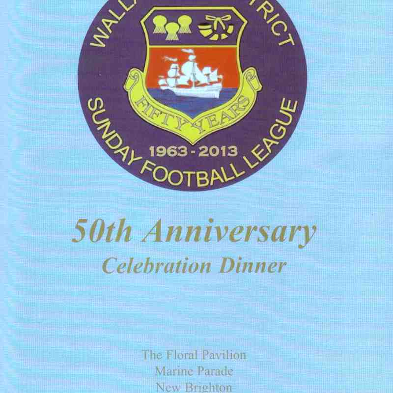 Wallasey & District Sunday Football League 50th Anniversary Dinner 06.09.2013