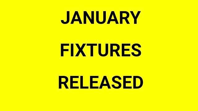 Ho Ho Ho January fixtures just released