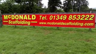 Sponsor Boards in situ