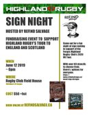 Rustic sign night fundraiser for 2020 UK Tour.  REGISTER NOW