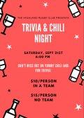 Trivia and Chili Night