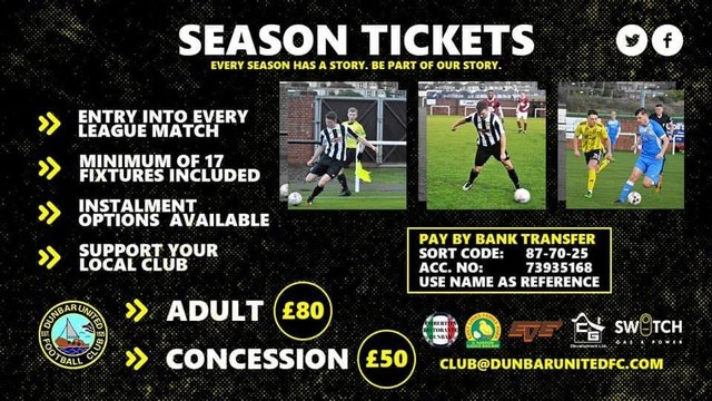 The club announce our season ticket package for season 2021/22