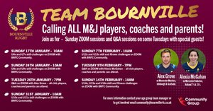 Activities for Minis, Juniors, Girls and Colts sections