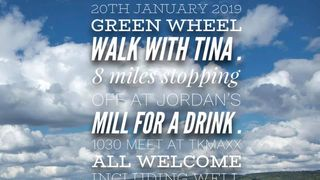 Green wheel walk with Tina