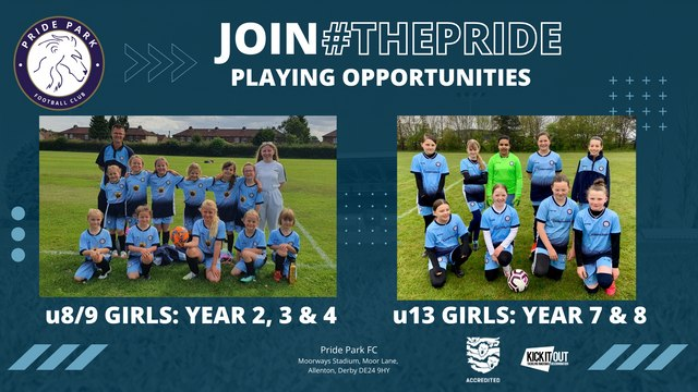 JOIN #THEPRIDE - PLAYING OPPORTUNITIES