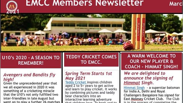 EMCC Newsletter 20 -  March 2021
