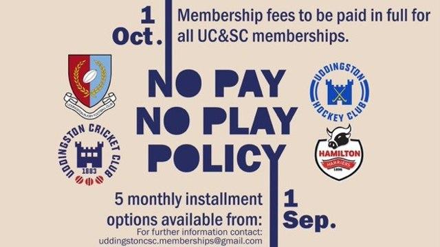 Memberships Now Overdue