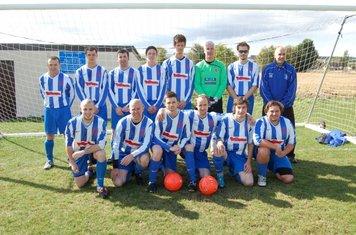 Oxfordshire Senior League Division One 2011.  Back Row: M McWilliams, W Beachamp, J O'Brien, S Hunt, G Slatter, M Shepherd, M Duester, D Souch. Front Row: C Salmon, S Bennett, G Kemp, M Plumbridge, J Vaughan, M North