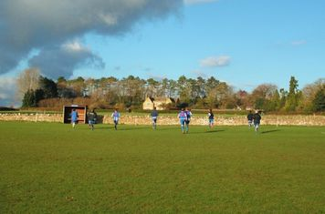 Chadlington FC players warming up before the game
