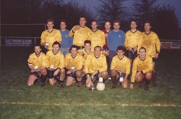 Junior Cup 1993. (Back row) M Hanson, R Catling, R Hinchcliffe, R Dore, V Hunt, J Ducker, C Goodgame, G Harding. (Front row) B Souch, R Perry, M Ducker, R Peebles, A Eley, S Taylor, M Anson