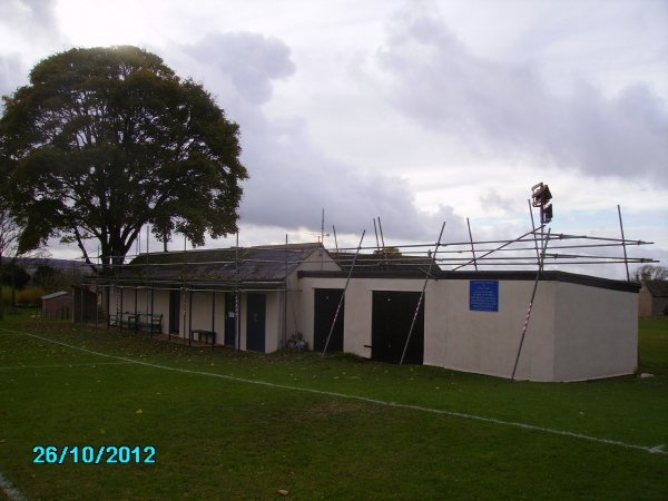 The Changing Rooms shortly before the old roof is stripped back and replaced
