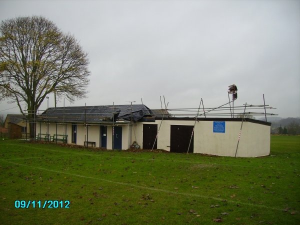 The Changing Rooms during the new roofing works