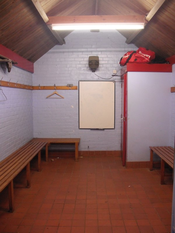The hallowed home team dressing room  in September 2012 before refurbishment