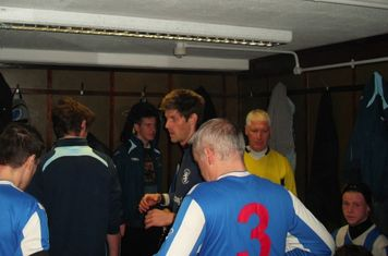 In the dressing room before the game