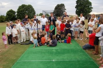 Official Opening of the Artificial Wicket by the Prime Minister, David Cameron - July 2nd 2010