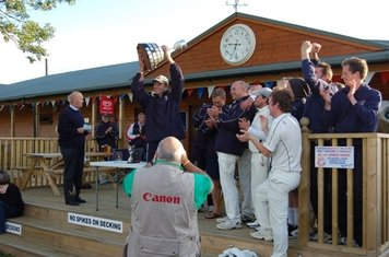 Lifting the Telegraph Cup 2010