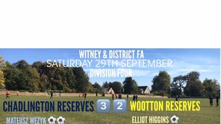 Weekend Results (29th September 2018)