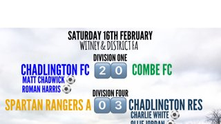Weekend Results (16th February 2019)
