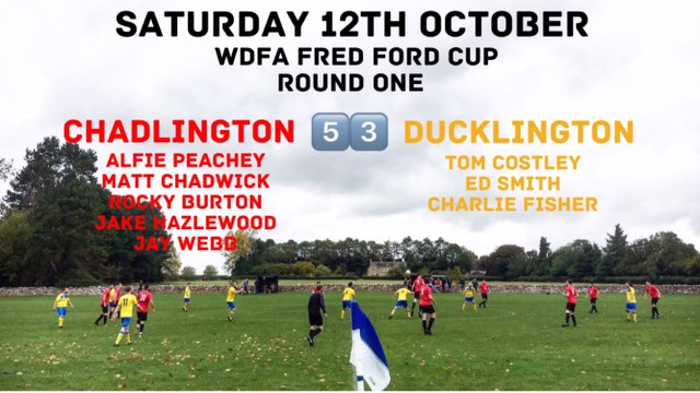 Weekend Results (12th October 2019)