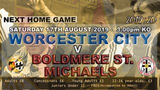 NEXT HOME GAME - BOLDMERE ST MICHAELS