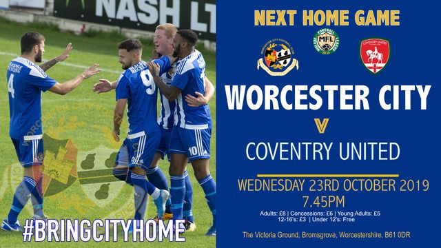 NEXT HOME GAME - COVENTRY UNITED
