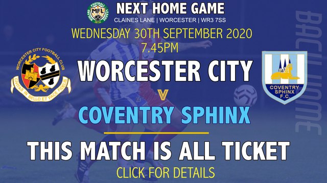 NEXT GAME - COVENTRY SPHINX