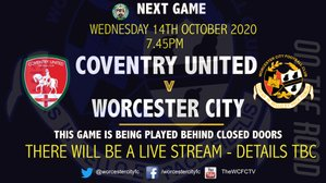 NEXT GAME - COVENTRY UNITED (AWAY)