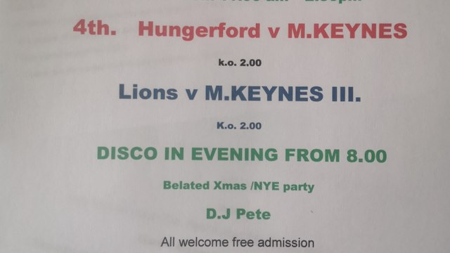 Blow away the January blues at Hungerford RFC