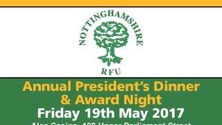 President's Dinner & Awards Night - Friday 19 May