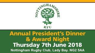 Notts RU Annual President's Dinner & Awards