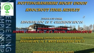 CUP AND VASE FINALS - SATURDAY 20TH APRIL