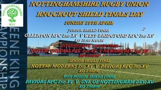 KNOCKOUT SHIELD FINALS - SUNDAY 28TH APRIL